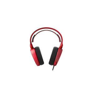 Слушалки SteelSeries Arctis 3 Red, 7.1 Gaming Headset, 20-20000 Hz, 98 dB, 32 Ohm, 40mm drivers, 3m. cable with 3.5mm jack (снимка 2)