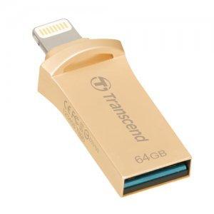 64GB Transcend JetDrive Go 500, USB3.1 and Apple MFi Certified Lightning, Gold, TS64GJDG500G (снимка 5)