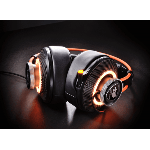 Слушалки Cougar Immersa Pro 7.1, High quality stereo sound headset, On earcup rapid control, Retractable microphone, 40mm Neodymium magnet driver, 100mm extra-large ear pads, 16.8 million RGB colors / 5 modes (снимка 9)