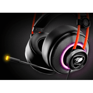 Слушалки Cougar Immersa Pro 7.1, High quality stereo sound headset, On earcup rapid control, Retractable microphone, 40mm Neodymium magnet driver, 100mm extra-large ear pads, 16.8 million RGB colors / 5 modes (снимка 3)