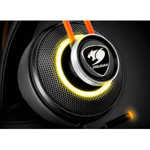 Слушалки Cougar Immersa Pro 7.1, High quality stereo sound headset, On earcup rapid control, Retractable microphone, 40mm Neodymium magnet driver, 100mm extra-large ear pads, 16.8 million RGB colors / 5 modes (снимка 2)