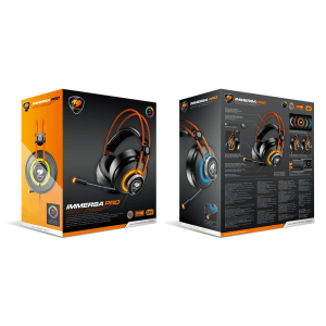 Слушалки Cougar Immersa Pro 7.1, High quality stereo sound headset, On earcup rapid control, Retractable microphone, 40mm Neodymium magnet driver, 100mm extra-large ear pads, 16.8 million RGB colors / 5 modes (снимка 16)