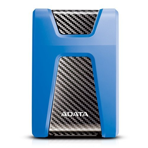 "Външен твърд диск Adata DashDrive Durable HD650, 1TB, 2.5"", USB3.1, Anti-shock Silicone, Blue (снимка 1)"
