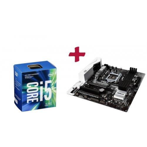 Дънна платка ASRock B250M Pro4, LGA1151 + Intel Kaby Lake Core i5-7600, LGA1151 (снимка 1)
