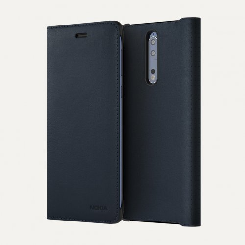 Протектор Nokia 8 Leather Flip Case (снимка 1)