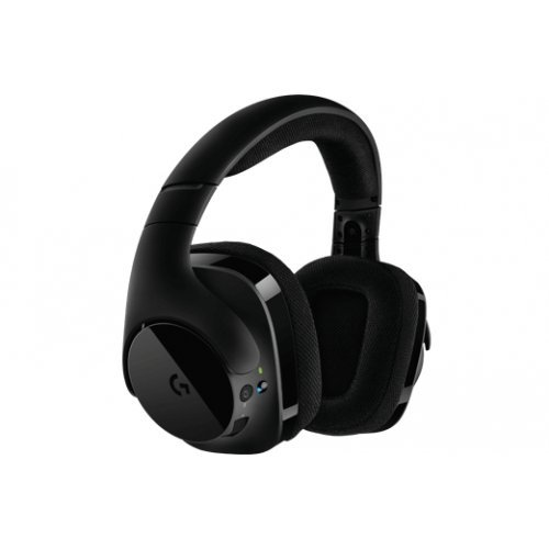 Слушалки Logitech G533 Wireless DTS 7.1 Surround Sound Headset, 20 - 20000 Hz, 40mm drevers, 32 Ohm, 107dB, Noise-Canceling Microphone with Micro Pop filter, USB, Black (снимка 1)