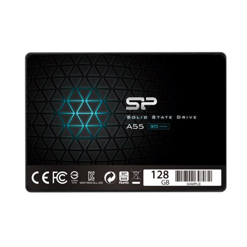 "SSD Silicon Power 128GB, А55, SATA3, 2.5"" 7mm (снимка 1)"