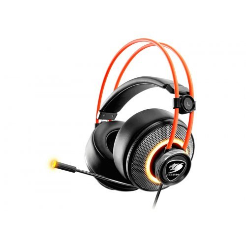 Слушалки Cougar Immersa Pro 7.1, High quality stereo sound headset, On earcup rapid control, Retractable microphone, 40mm Neodymium magnet driver, 100mm extra-large ear pads, 16.8 million RGB colors / 5 modes (снимка 1)