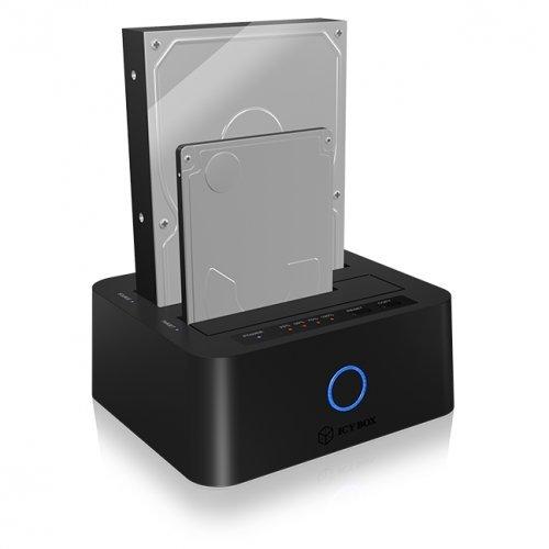 """Кутия за диск Raidsonic IB-123CL-U3, 2.5/3.5"""" SATA to USB3.0 UASP Docking Station (снимка 1)"""
