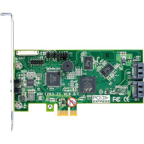 I/O модул Areca ARC-1203-2i, 2port internal SATA 6G RAID /2xSATA III/, ARM 1066MHz processor, 512MB RAM, PCIe 2.0 x1, RAID 0, 1, Single Disk or JBOD, Low profile (снимка 1)