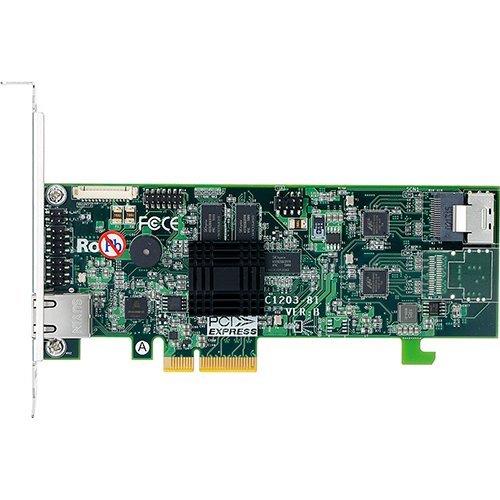 I/O модул Areca ARC-1203-4i 4port internal SATA 6G RAID /1xSFF-8087/, ARM 1066MHz processor, 512 MB ECC RAM, PCIe 2.0 x4, RAID 0, 1, 1E, 10, 3, 5, 6, 30, 50, 60, Single Disk or JBOD, Low profile, NO EXPANSION (снимка 1)
