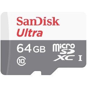 Флаш карта Secure Digital Card Micro 64GB SanDisk Ultra SDXC C10 (снимка 1)