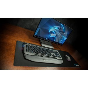 Клавиатура Roccat Skeltr Grey, Smart Communication RGB Gaming Keyboard, UK Layout, Universal device docking slot, 3 programmable thumbster keys, 5 programmable macro keys, Easy-Shift[+] with 20-key EasyZone, Bluetooth V3.0, 512kB memory + 32-bit Arm IC (снимка 8)