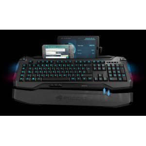 Клавиатура Roccat Skeltr Grey, Smart Communication RGB Gaming Keyboard, UK Layout, Universal device docking slot, 3 programmable thumbster keys, 5 programmable macro keys, Easy-Shift[+] with 20-key EasyZone, Bluetooth V3.0, 512kB memory + 32-bit Arm IC (снимка 4)