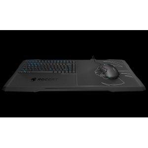 Клавиатура Roccat Sova MK, Gaming Lapboard, Key Backlighting in 6 levels, Mechanical keys, 275mm × 240mm mousepad (replaceable), 2x USB 2.0 ports, 4m break-away cable, ROC-12-182-BN (снимка 1)