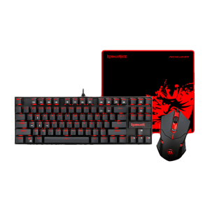 Комплект клавиатура с мишка Redragon K552-BA, 3 in 1 Combo, K552 Kumara mechanical keyboard, M601 Centrophorus Gaming Mouse, P001 Archelon Mouse pad (снимка 1)