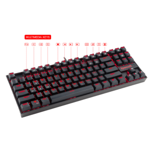 Комплект клавиатура с мишка Redragon K552-BA, 3 in 1 Combo, K552 Kumara mechanical keyboard, M601 Centrophorus Gaming Mouse, P001 Archelon Mouse pad (снимка 4)