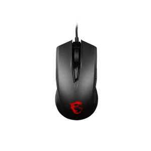 Мишка MSI Clutch GM40, Optical Gaming Mouse, PMW 3310 sensor, 1000 to 3600 dpi, 9 buttons, Red LED light, 2.0m braided USB cable, Black (снимка 3)