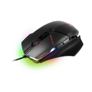 Мишка MSI Clutch GM60, Optical Gaming Mouse, PMW 3330 sensor, Default 1000 to 3600 dpi (max 10 800 dpi), 8 buttons, Omron switches, RGB LED light, 2.0m braided USB cable, Black (снимка 4)