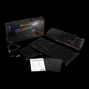 Клавиатура Asus ROG Claymore, Mechanical Gaming Keyboard, Cherry MX Brown switches, Individually-backlit keys with RGB Aura Sync (снимка 2)