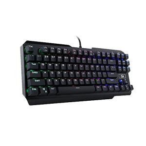 Клавиатура Redragon Usas K553RGB, Mechanical Gaming Keyboard, Outemu Blue switches, 87 keys, Gold plated USB cable, Black (снимка 5)