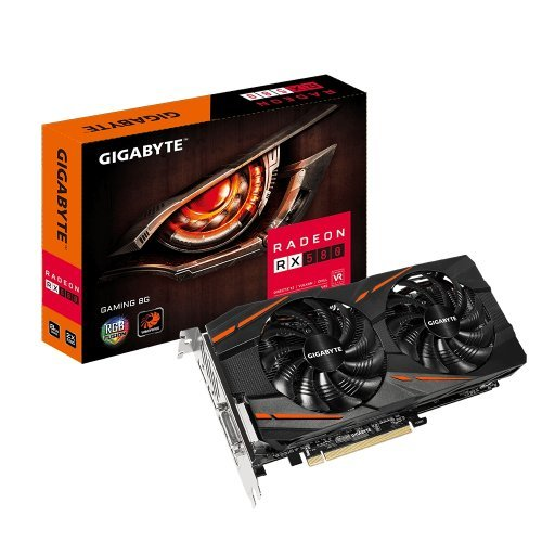 Видео карта Ati Gigabyte GV-RX580GAMING-8GD (rev. 1.1), RX 580 Gaming 8G, 8GB GDDR5, 256 bit, PCI-E 3.0, DVI-D, HDMI, 3x DisplayPort (снимка 1)