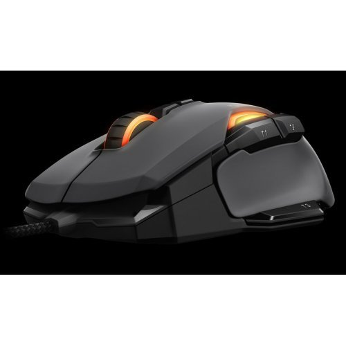 Мишка Roccat Kone AIMO - RGBA Smart Customization Gaming Mouse, Grey, ROCCAT Owl-Eye optical sensor 12 000dpi, 1000Hz polling rate/1ms, ARM Cortex-M0 50MHz, 512kB onboard memory (снимка 1)