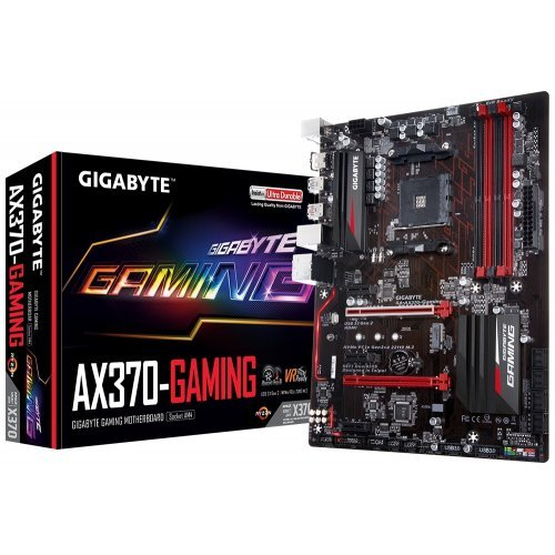 Дънна платка Gigabyte GA-AX370-Gaming (rev. 1.0), sAM4 (снимка 1)