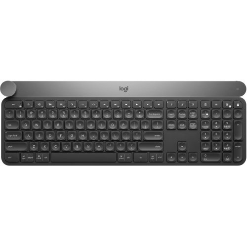 Клавиатура Logitech Craft, Advanced Keyboard with Creative Input Dial, Logitech Unifying 2.4GHz wireless and Bluetooth Low Energy, On/Off power switch (снимка 1)