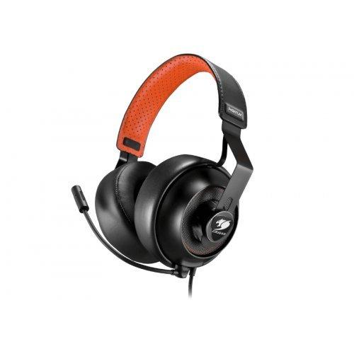 Слушалки Cougar Phontum, High quality stereo headset, 53mm drivers, Dual Chamber System, Dual Earpad Set, Soft Protein Leatherette, Detachable Microphone, Detachable Control Unit, Braided Cable Type, Steel-based Headband (снимка 1)