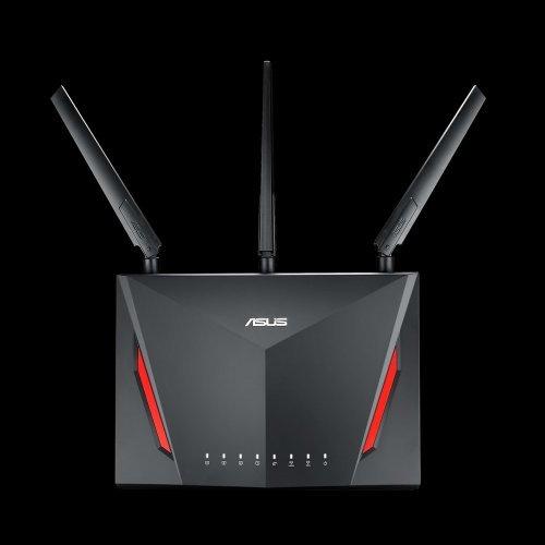 Безжичен рутер Asus RT-AC86U, AC2900 Dual Band Gigabit WiFi Gaming Router with MU-MIMO (снимка 1)