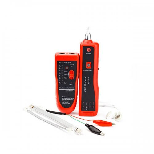 Мрежови инструмент Мрежов тестер с тон генератор LAN, RJ45, RJ11, Sound, Headphones (снимка 1)