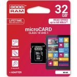 Secure Digital Card Micro 32GB Goodram UHS-I Class 10, Adapter (Флаш карти)