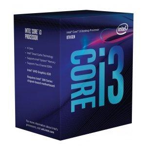 Процесор Intel Coffee Lake Core i3-8300, LGA1151, 3.7GHz, 8MB Cache, 14nm, 64 bit, 62W, GPU Intel UHD 630, Box (снимка 1)