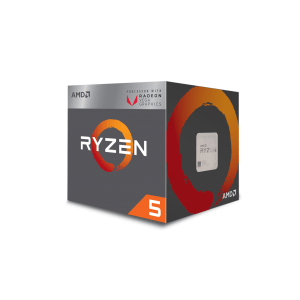 Процесор AMD APU Ryzen 5 2400G, 4C/8T, s.AM4, 3.6GHz (3.9 with Boost), 2MB L2 Cache, 4MB L3 Cache, 65W, with Wraith Stealth cooler and RX Vega 11 Graphics, Box (снимка 1)