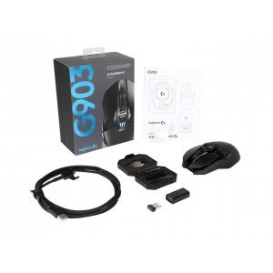 Мишка Logitech G903 Lightspeed, 2.4GHz Wireless Optical Gaming Mouse, 200 - 12000 dpi, PMW3366 sensor, compatible with PowerPlay (снимка 7)