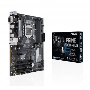 Дънна платка Asus PRIME B360-PLUS, LGA1151 (300 Series) (снимка 1)