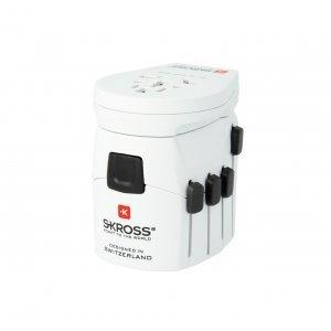 Разклонител Skross Pro 1302535, World Adapter and USB (снимка 1)
