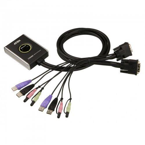 KVM суич ATEN CS682, 2x1, USB, DVI (снимка 1)