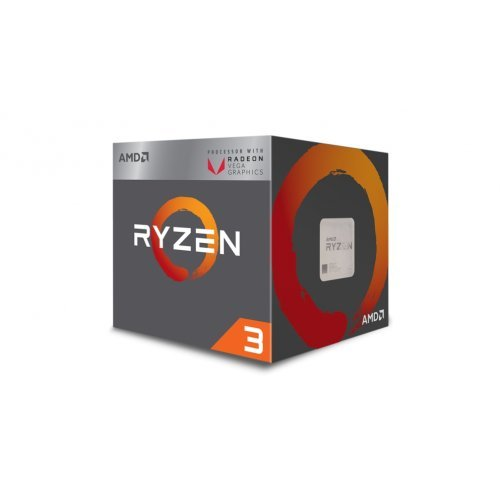 Процесор AMD APU Ryzen 3 2200G, 4C/4T, s.AM4, 3.5GHz (3.7 with Boost), 2MB L2 Cache, 4MB L3 Cache, 65W, RX Vega 8 Graphics, Radeon Vega 8, Box (снимка 1)