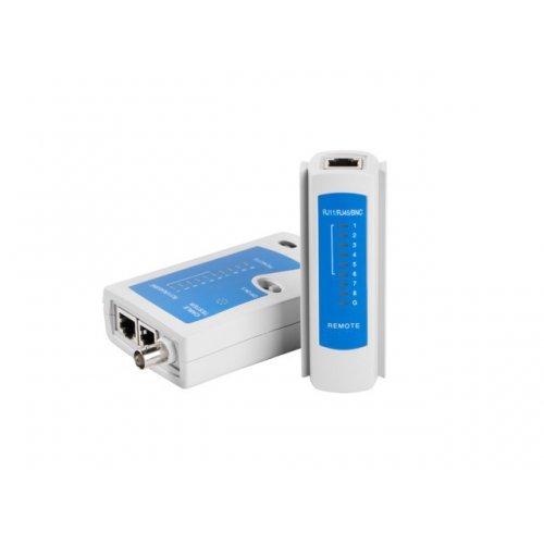 Мрежови инструмент Lanberg NT-0401 Cable Tester for RJ-45, RJ-12, RJ-11, Coaxial (снимка 1)