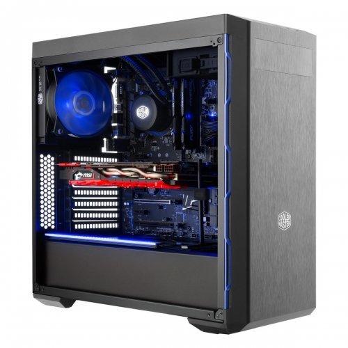 Компютърна кутия Cooler Master MasterBox MB600L Blue, Black (снимка 1)
