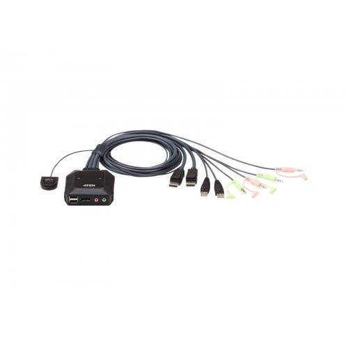 KVM суич Aten CS22DP, USB DisplayPort KVM Switch, 2x1, Remote Port Selector (снимка 1)