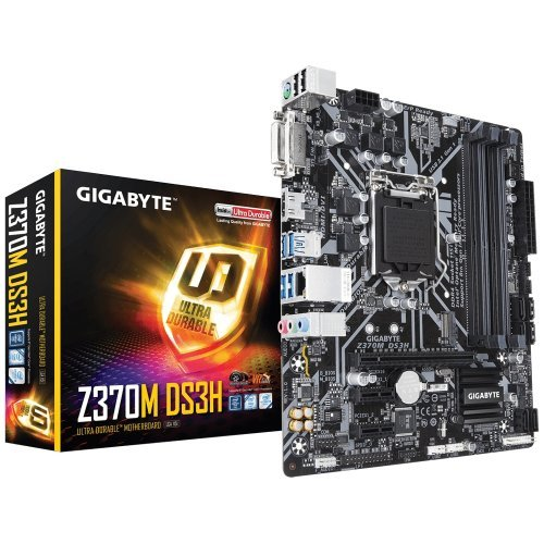 Дънна платка Gigabyte Z370M DS3H (rev. 1.0), LGA1151 (300 Series) (снимка 1)