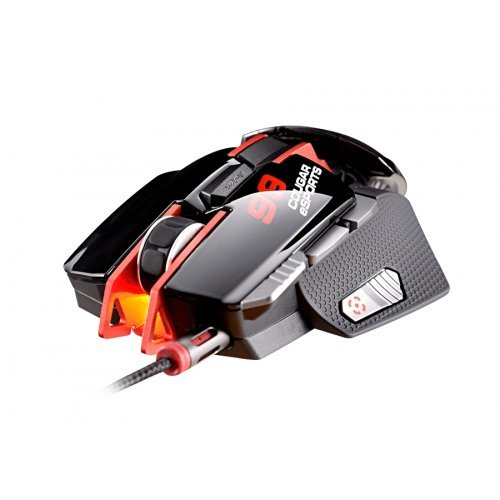 Мишка Cougar 700M eSPORTS RED Gaming Mouse, 8200 DPI, 32-bit ARM Cortex-M0, On-board memory 512KB, Aluminum/Plastic, Software COUGAR UIX System, OMRON gaming switch, 8 Programmable buttons, Frame rate 12000 FPS, Cable Length 1.8m Braided (снимка 1)