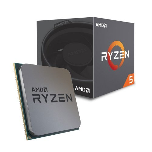 Процесор AMD Ryzen 5 2600, 6C/12T, s.AM4, 3.4GHz (3.9GHz with Boost), 19MB, 65W, With Cooler, No VGA, Box (снимка 1)