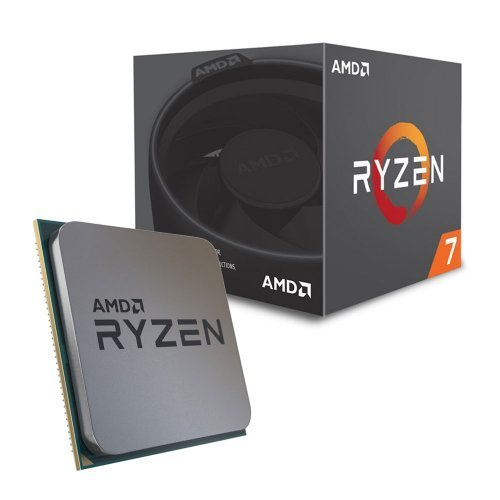 Процесор AMD Ryzen 7 2700X, 8C/16T, s.AM4, 3.7GHz, (4.3GHz with Boost), 20MB Cache, 65W, Wraith Prism with RGB LED cooler, No VGA, Box (снимка 1)