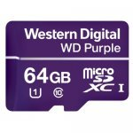 Secure Digital Card Micro 64GB, Western Digital Purple UHS-I U1, WDD064G1P0A (Флаш карти)
