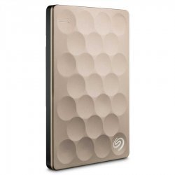 "Seagate Backup Plus Ultra Slim 2TB, 2.5"", USB3.0, Gold, STEH2000201 (Външни твърди дискове)"