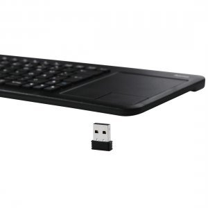 Клавиатура HAMA Uzzano 3.1, 173091, Compact Wireless Multimedia Keyboard, Integrated touchpad with 2 buttons,  USB for PC, laptop or smart TV, Black (снимка 4)
